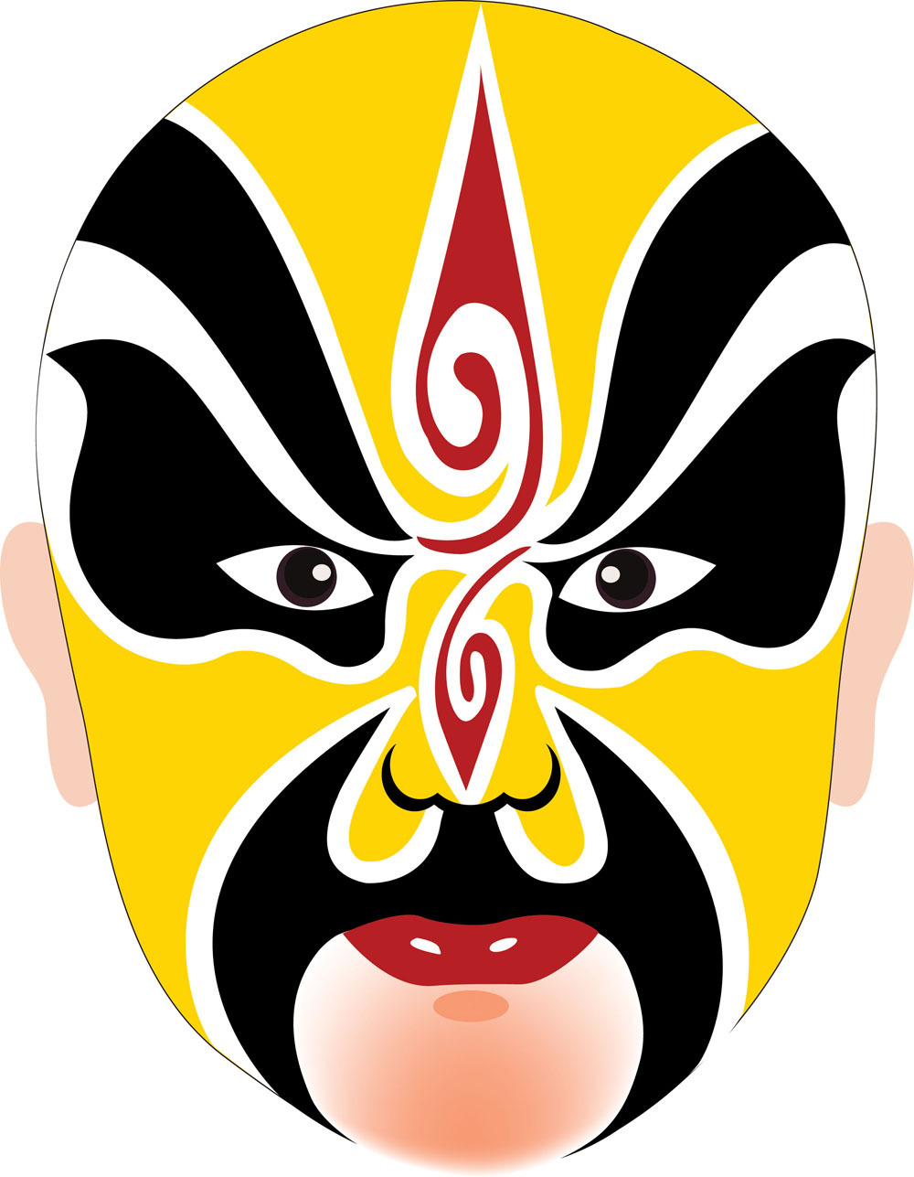 DecalMile Peking Opera Facial Mask Oil Painting Prints Painting On ...